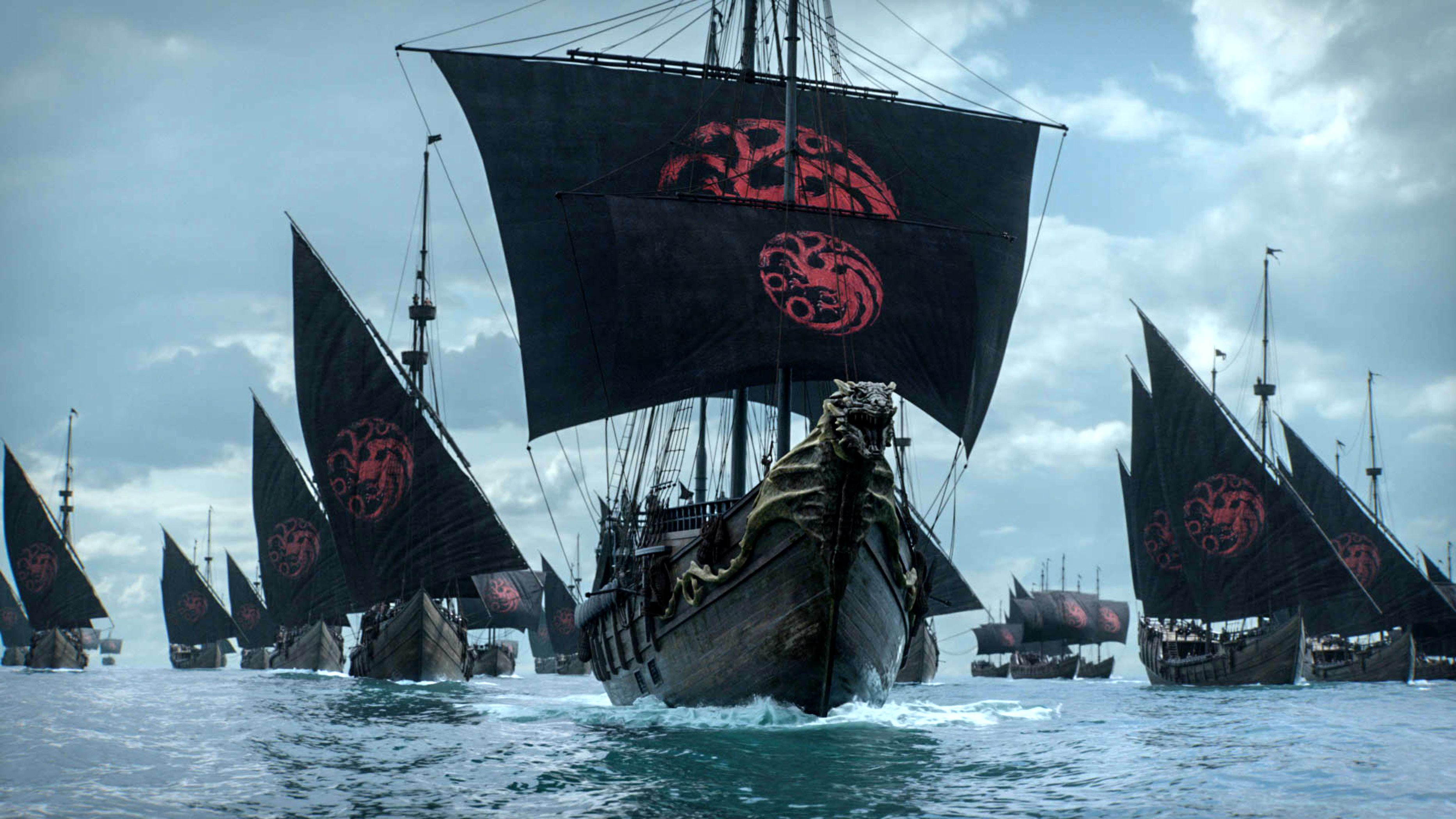 8x04 - The Last of the Starks - Targaryen Ships