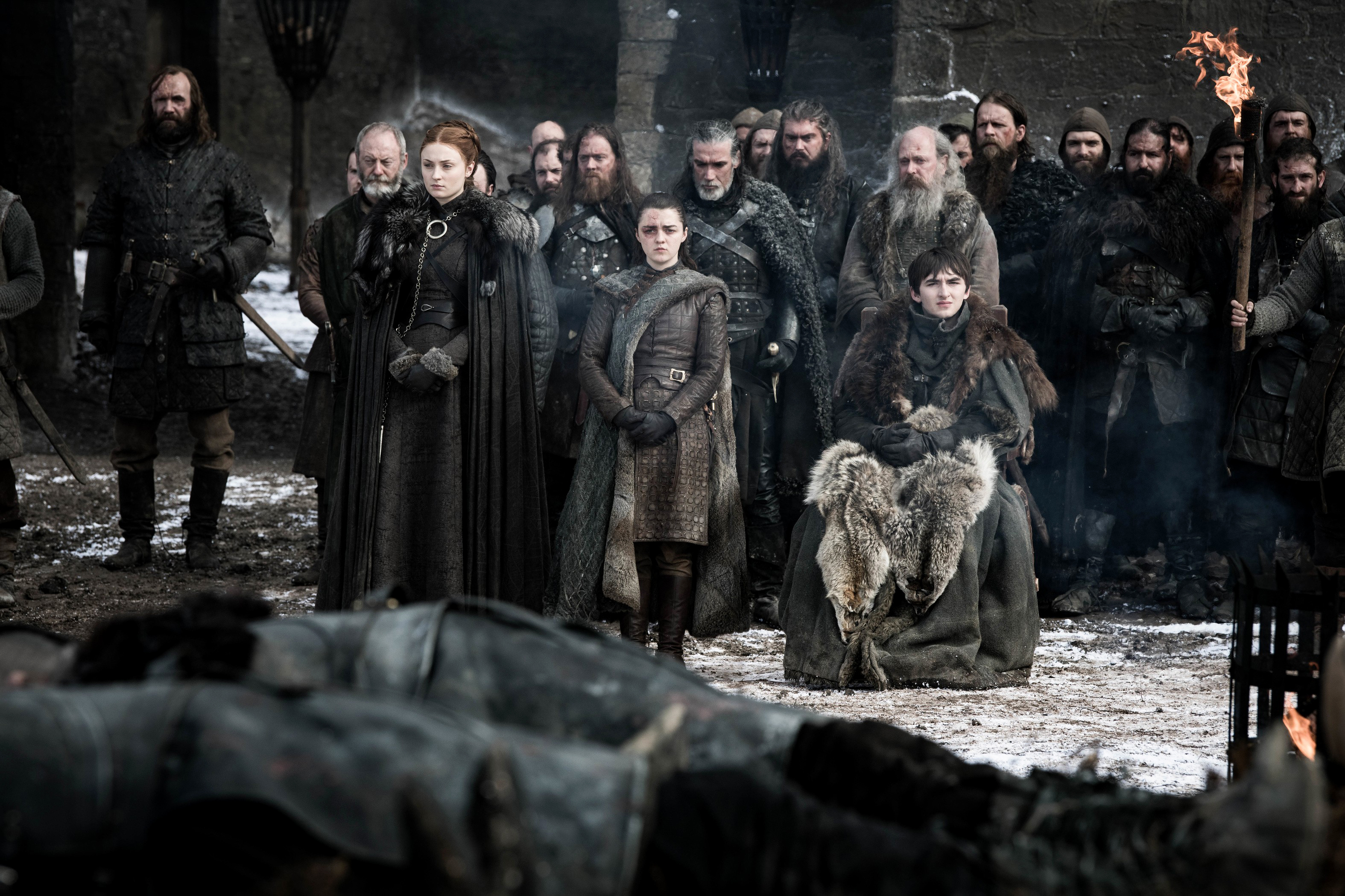 8x04 - The Last of the Starks - The Hound, Davos, Sansa, Arya and Bran