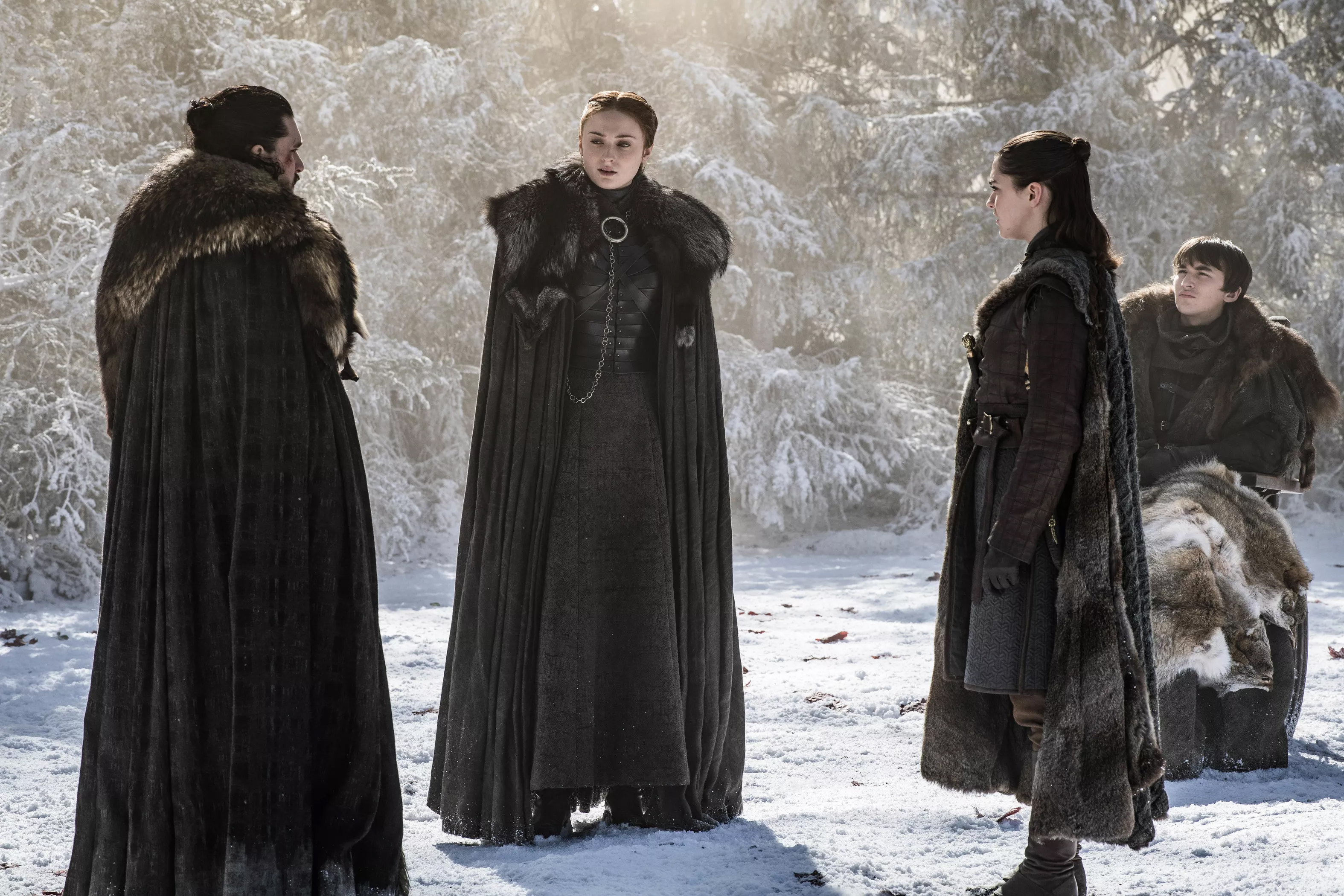 8x04 - The Last of the Starks - Jon, Sansa, Arya and Bran