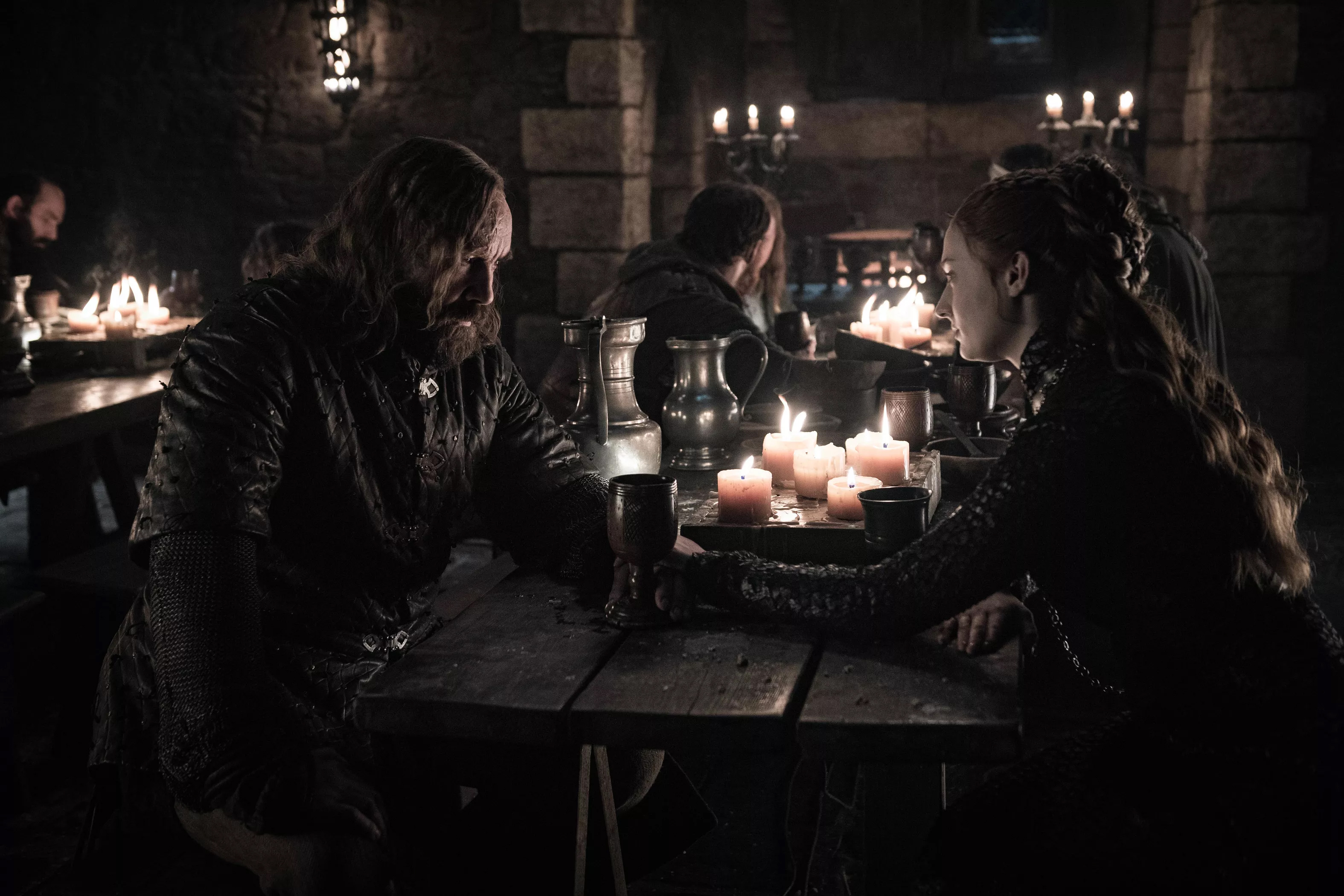 8x04 - The Last of the Starks - The Hound and Sansa