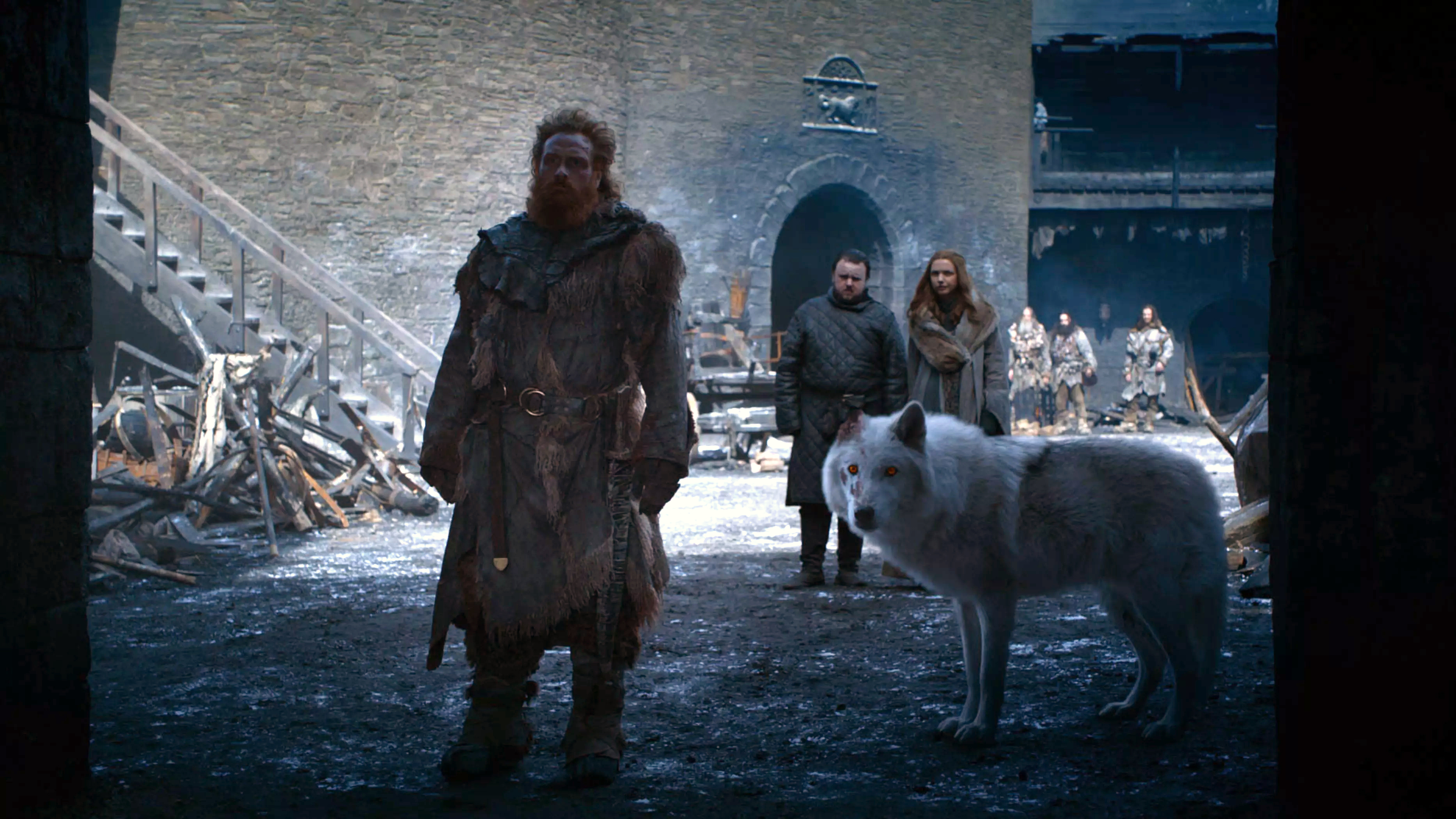 8x04 - The Last of the Starks - Tormund, Ghost, Sam and Gilly