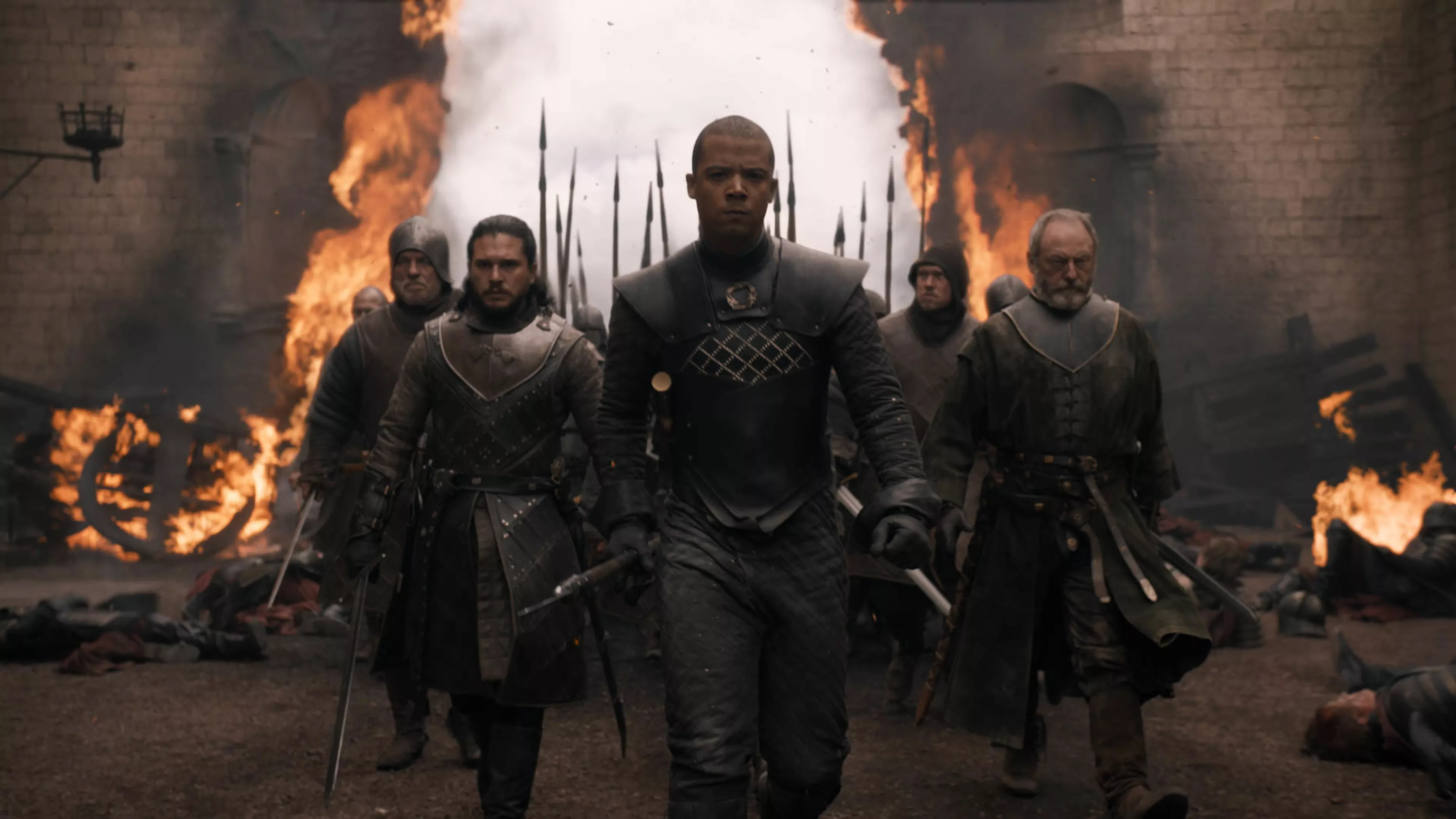 8x05 - The Bells - Jon, Grey Worm and Davos