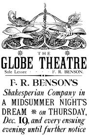 A Vintage Globe Theatre Program