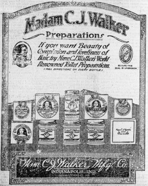 A Vintage Madame C.J. Walker Newspaper Ad