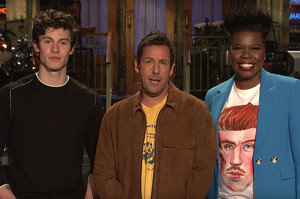 Adam Sandler With Shawn Mendes and Leslie Jones (Saturday Night Live Promo)