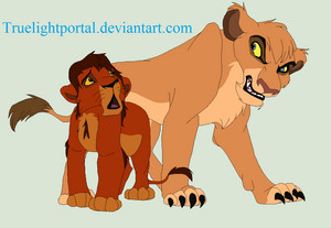 Adult Vitani and  teenage Kovu