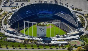 Aerial View Of Kaufmann Stadium