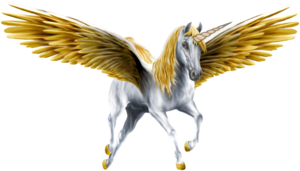 An Beautiful White Winged Unicorn
