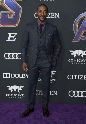 Anthony Mackie (Falcon) @Avengers Endgame L.A. premiere