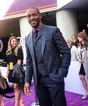 Anthony Mackie at the Avengers: Endgame World Premiere in Los Angeles (April 22nd, 2019)