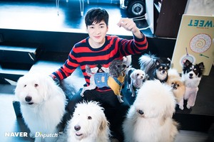 Aron photoshoot with perros