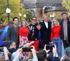 Avengers: Endgame cast at Disney's California Adventure Park (April 5, 2019)