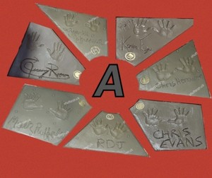 Avengers Endgame handprints ~TCL Chinese Theatre in Los Angeles (April 23, 2019)