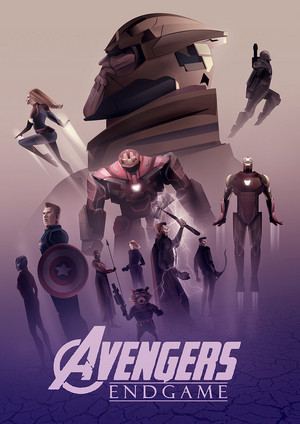 Avengers Endgame poster - Created sa pamamagitan ng Cristhian Hova