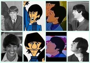 Beatles Vs. Cartoon Beatles