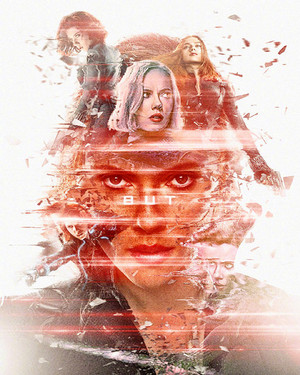 Black Widow ~Avengers: Endgame Original Six Characters Promotional Art par masaolab