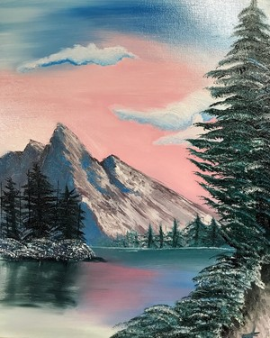 Bob Ross Inspired Painting