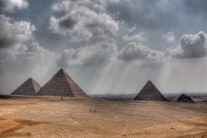 CLOUDY IN GIZAH PYRAMIDS EGYPT