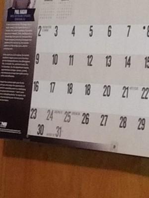 Calendar Misprint