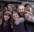 Cast behind the scenes of Season 1 - game-of-thrones photo