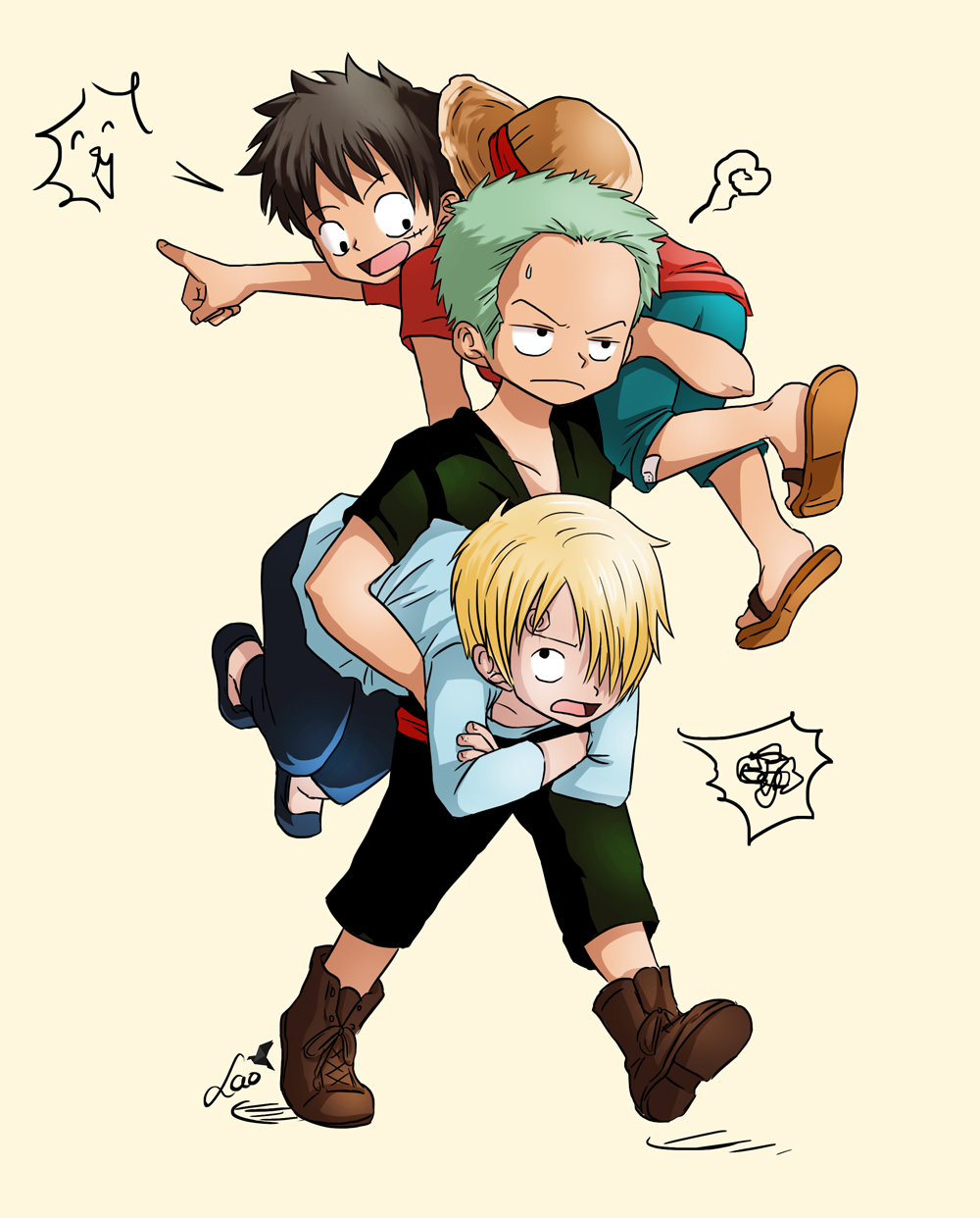 Chibi Monster trio