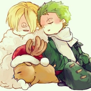 chibi Sanji, Chopper and Zoro