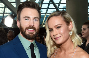 Chris Evans and Brie Larson (Captain America/Captain Marvel) @ Avengers Endgame L.A. premiere