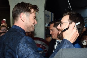 Chris Evans and Chris Hemsworth at the Avengers: Endgame World Premiere in Los Angeles (April 22nd,