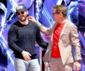 Chris Evans and RDJ handprints ceremony at the TCL Chinese Theatre in Los Angeles (April 23, 2019) - the-avengers photo