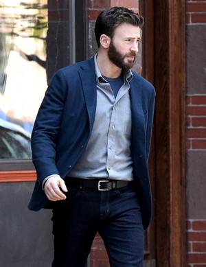 Chris Evans on the set of Defending Jacob - May 8th 2019