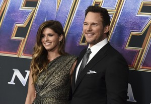 Chris Pratt (Star Lord) and fiancee,Katharine @ Avengers Endgame L.A. premiere