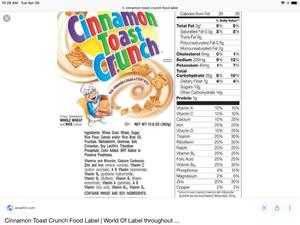 Cinnamon torrada, brinde Crunch