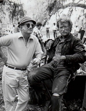 Clint Eastwood and Don Siegel on the set of The Beguiled 1971