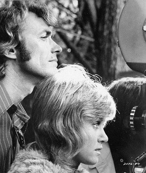 Clint Eastwood and Donna Mills on the set of Play Misty for Me 1971