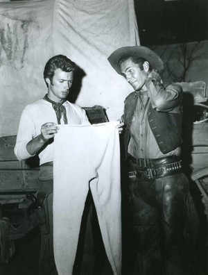 Clint Eastwood and Eric Fleming (Rawhide)