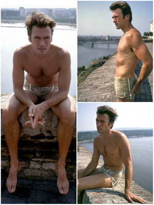Clint Eastwood in Novi Sad during the shooting of Kelly's ヒーローズ 写真 Lawrence Schiller (1970)