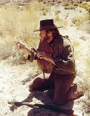 Clint Eastwood on the set of High Plains Drifter (1973)