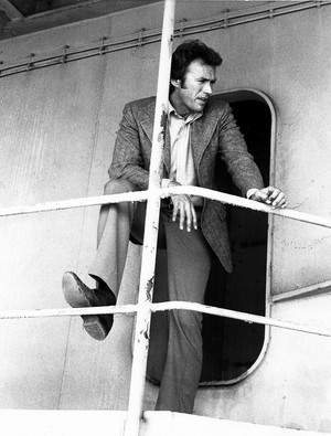 Clint Eastwood on the set of magnum Force (1973)
