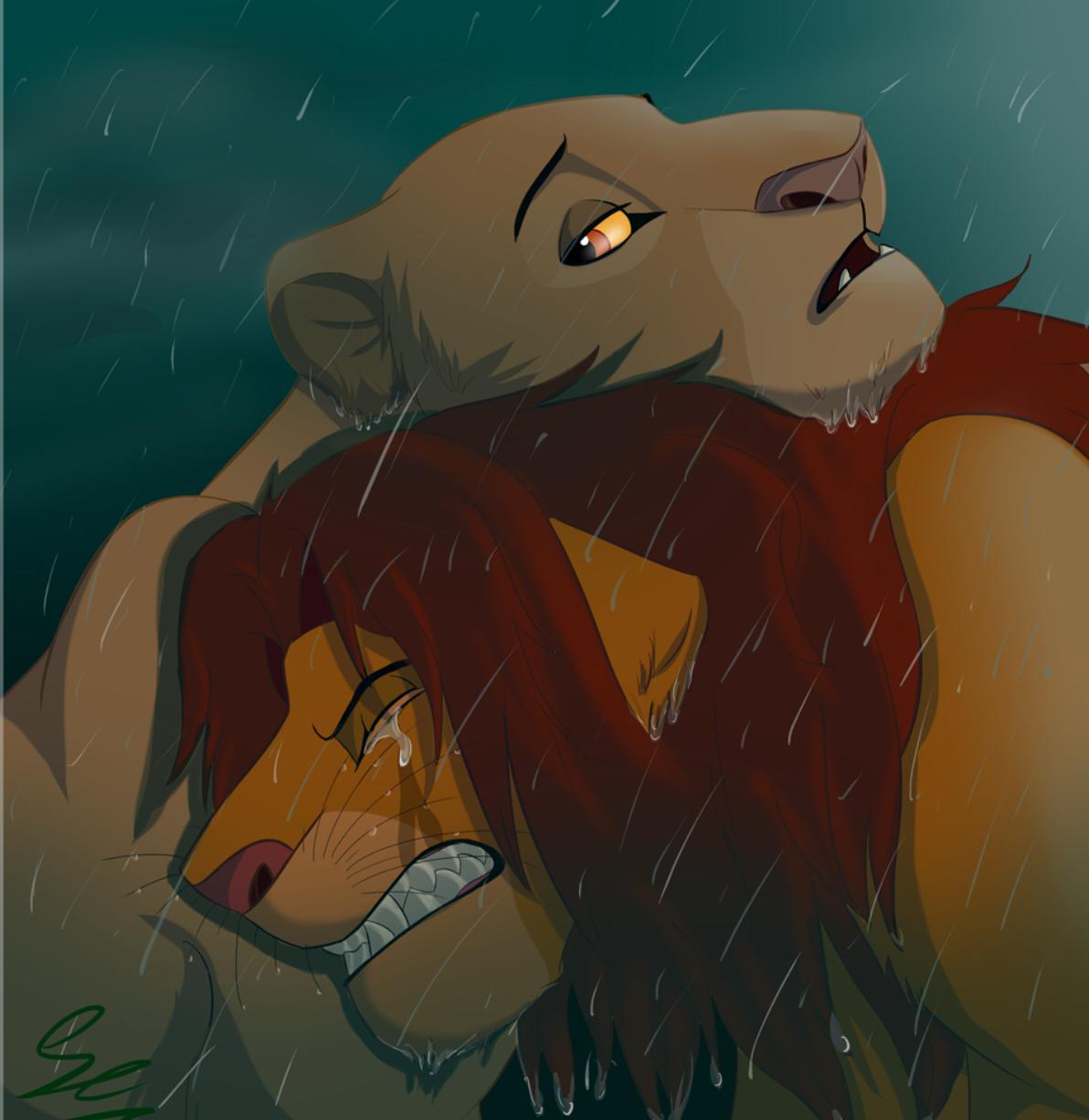 Crying And Sad Simba Lionkinglove Fan Art 42747394 Fanpop