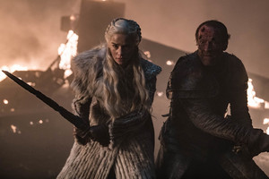Daenerys Targaryen and Jorah Mormont in 'The Long Night'