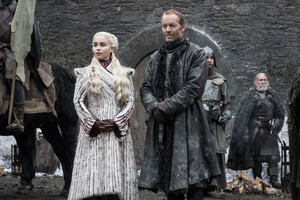 Daenerys Targaryen and Jorah Mormont in 'Winterfell'