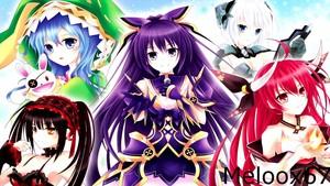 petsa A Live Tohka Yatogami, Origami Tobiichi, Kurumi Tokisaki, Kotori Itsuka, Yoshino Yoshinon