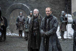 Davos Seaworth and Jorah Mormont in 'Winterfell'
