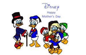 디즈니 Happy Mother's 일 to Della 오리 (from Huey, Dewey and Louie)