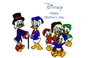 디즈니 Happy Mother's 일 to Della 오리 (from Huey, Dewey and Louie)