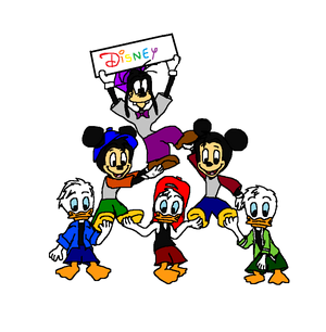 Disney Juniors (Huey, Dewey, and Louie Duck, Morty and Ferdie Fieldmouse and Gilbert Goof)