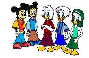 Disney's Morty, Ferdie, Huey, Dewey and Louie.