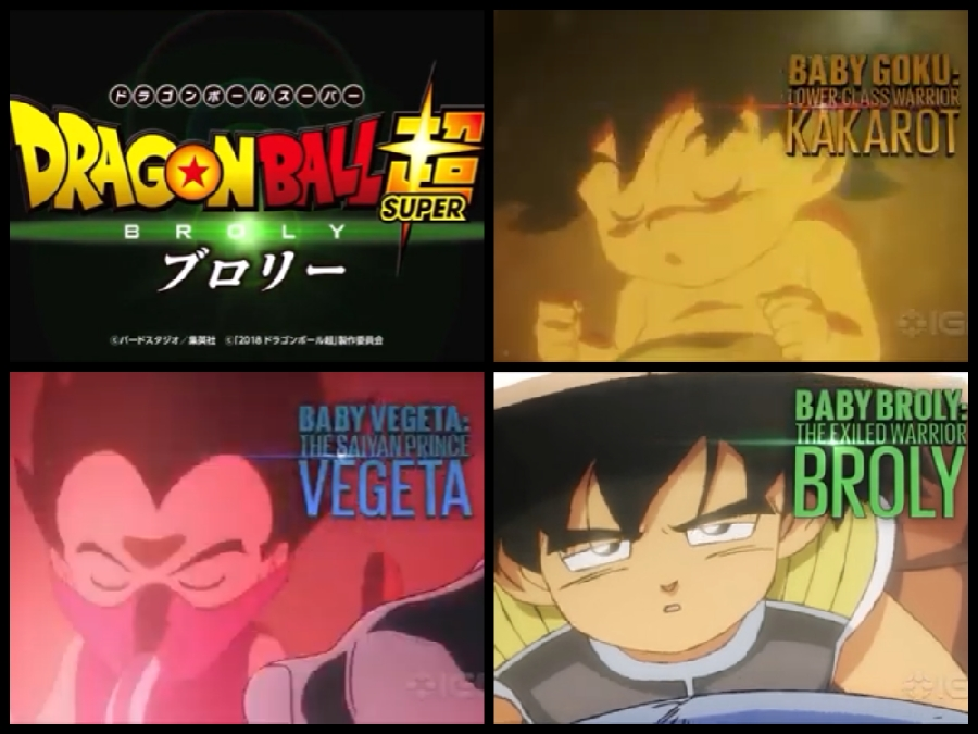Dragon Ball Super Broly Movie Goku Kakarot Vegeta and Broly as babies