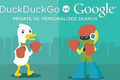 DuckDuckGo (DDG) vs Google - google fan art