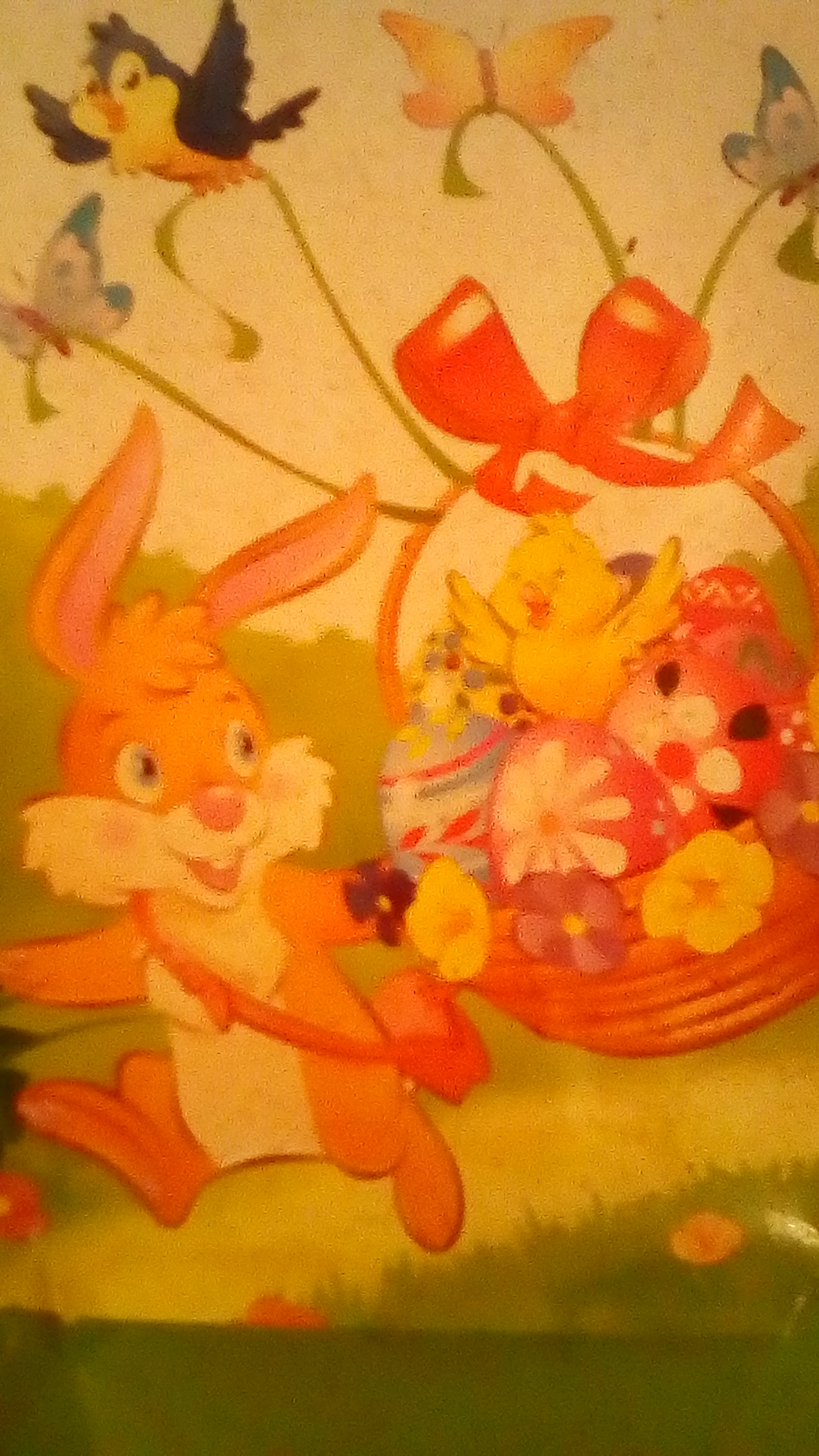 Easter Bunny with Easter Egg Basket